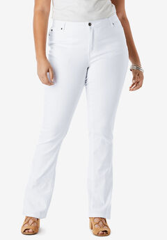 Bootcut Jean with Invisible Stretch® by Denim 24/7®, WHITE DENIM