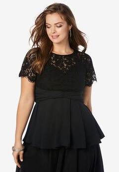 Lace Peplum Top,