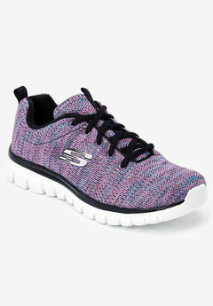 The Graceful Twisted Fortune Sneaker by Skechers®, BLACK MULTI MEDIUM