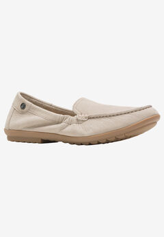 Aidi Moccasin by Hush Puppies, TAUPE NUBUCK