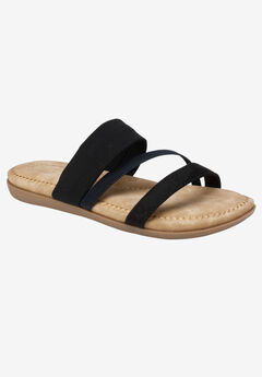 Farris Sandal by Cliffs by White Mountain, BLACK SUEDE
