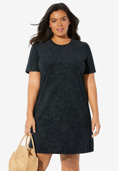 Burnout French Terry Coverup, BLACK PAISLEY BURNOUT