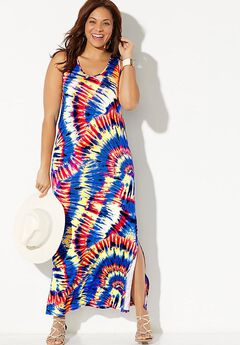 Mandy Tie Dye Maxi Dress Cover Up,