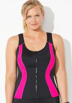 Xtra Life Lycra Zip Vest Top by Aquabelle,