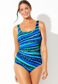 Chlorine Resistant Lycra Xtra Life Tank One Piece Swimsuit,