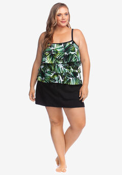 Three-Tiered Tankini Top by Maxine of Hollywood, PALMTASTIC