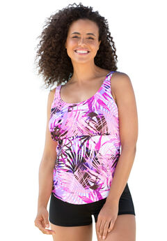 Flared Tankini Top by Beach Belle®,