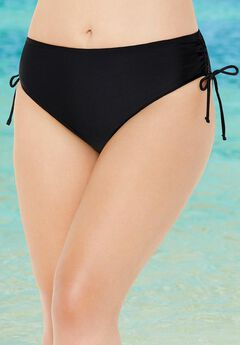 Side tie swim brief, BLACK