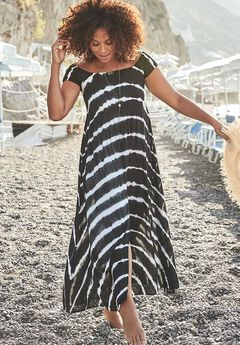 Tie Dye Maxi Dress Cover Up,