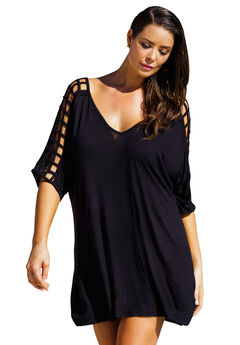 Cutout Cover Up, BLACK