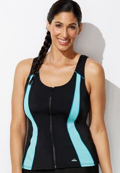 Xtra Life Lycra Zip Vest Top by Aquabelle,