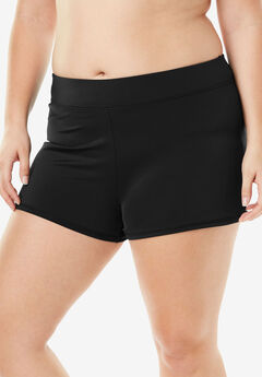 Wide-Band Swim Short with Built-In Brief,