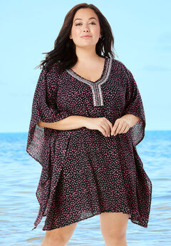 Jeweled Caftan, BLACK PINK DOT