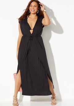 Clara Slit Front Maxi Dress Cover Up,
