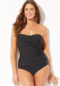 Bandeau One Piece Swimsuit  ,