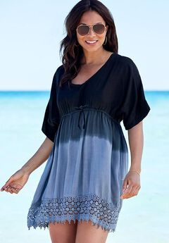 Ombré Swim Cover Up, BLACK GREY OMBRE