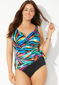 Longitude Veranda View Surplice One Piece Swimsuit,