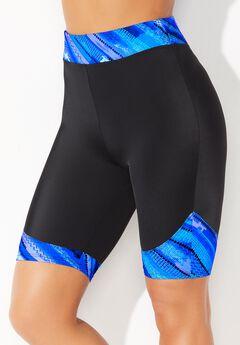 Chlorine Resistant Printed Swim Bike Short,