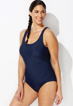 Side Shirred Maillot by Aquabelle,