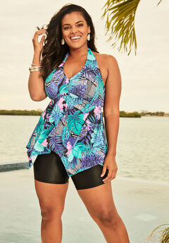 fcacb1ca48 Flared Tankini Top with Bust Support