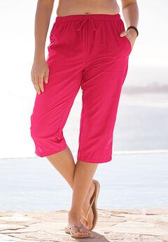 Taslon® Capri Pants, RED