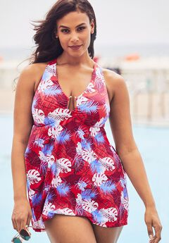 Keyhole H-Back Swimdress,