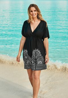 Foil-Print Swim Cover Up,