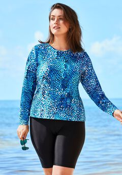 Long Sleeve Swim Tee with Sun Protection,