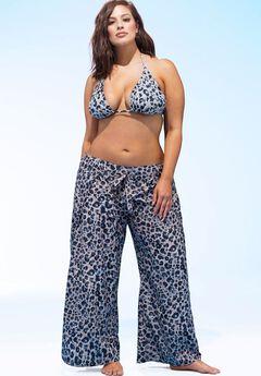 Ashley Graham® Reina Beach Pant Coverup,