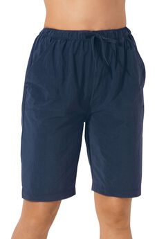 Taslon® Swim Board Shorts with Built-In Brief,