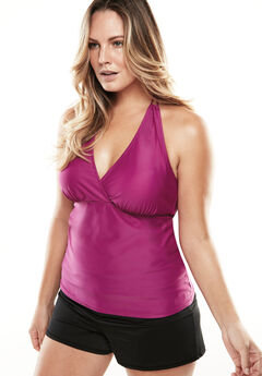 Loop Halter Tankini Top,