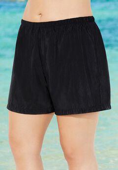 Chlorine Resistant Black Nylon Short,