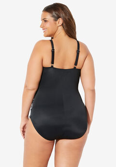 7f6e3e8a966 High-Neck Ruched One-Piece by Trimshaper® by Miraclebrand