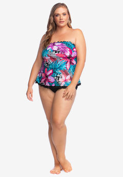 Ruffle-Edge Tankini Top by Maxine of Hollywood,