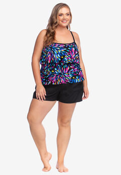 Three-Tiered Tankini Top by Maxine of Hollywood, MULTI SPARKLER