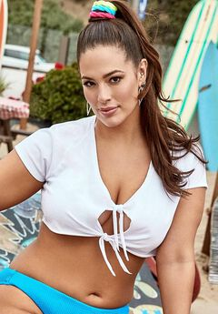 Ashley Graham x Swimsuits For All Jinx Crop Top Cover Up,
