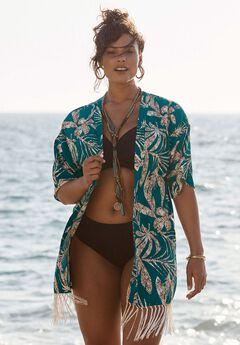Fringe Kimono Coverup,