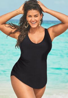 Sarong Front One Piece Swimsuit,