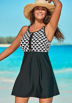 Macrame High Neck Swimdress ,