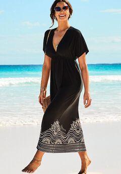 Kate V-Neck Cover Up Maxi Dress,