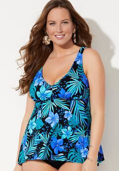 V-Neck Tankini Swim Top,