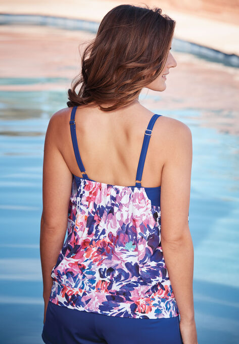 851b0f671eea0 Two-In-One Blouson Tankini Top| Plus Size Active & Swimwear | Full ...