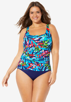 Shirred One-Piece by Trimshaper® by Miraclebrand,