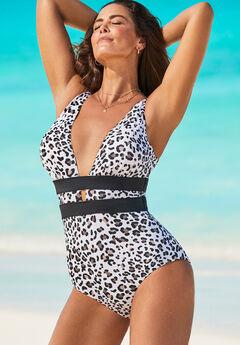 Plunge One Piece Swimsuit,