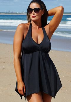 Handkerchief Halter Two-Piece Swimdress Set,