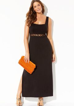 Kimber Square Neck Cover Up Maxi Dress,