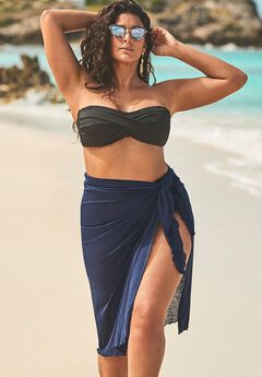 Audrey Cobalt Convertible Sarong Cover Up,