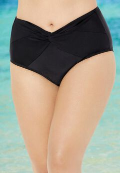 Twist Front Brief Swim Bottom,