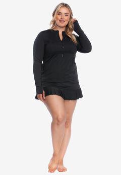 Long-Sleeve Zip Swim Shirt by 24th & Ocean,