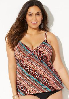 Cup Sized Underwire Tankini Top ,